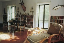 Hemingway's study. Apparently he used to write standing up 'because you have more vitality on your feet…but I use the typewriter for dialogue because people speak like a typewriter works.'