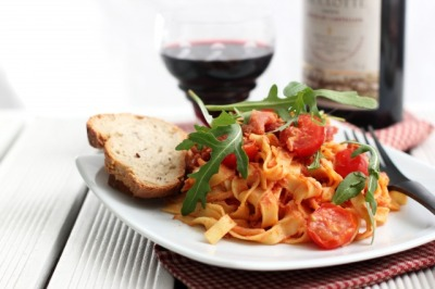 Tagliatelle, Pancetta, Tomatoes and Ricotta Recipe