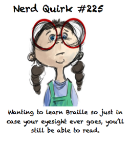nerdquirks:  I have actually considered it, because listening to a book on tape wouldn't be quite the same. Thanks to timid-troubadour for this awesome suggestion!