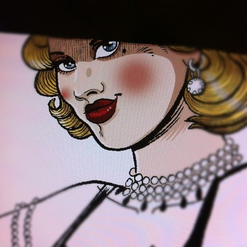 #artwork for #flyer #poster #burlesque in progress #paris #glitterfever #retro (Taken with Instagram at http://www.mariemeier.fr)