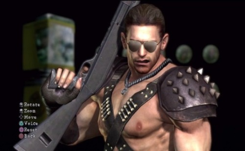 I think chris redfield means business.
