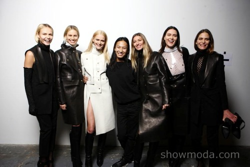 Alexander Wang Backstage First Look #NYFW #AW12 with Gisele, Shalom, Karolina and friends