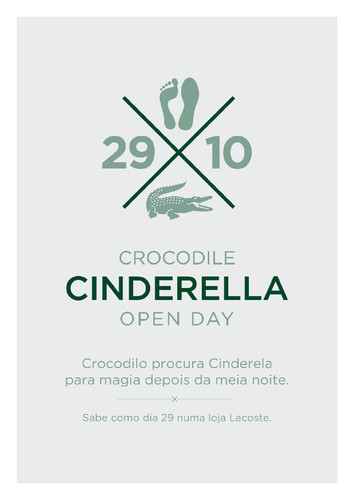 Lacoste - Cinderella Open Day Agência Publicidade - Pony Tale, Billy The Group
