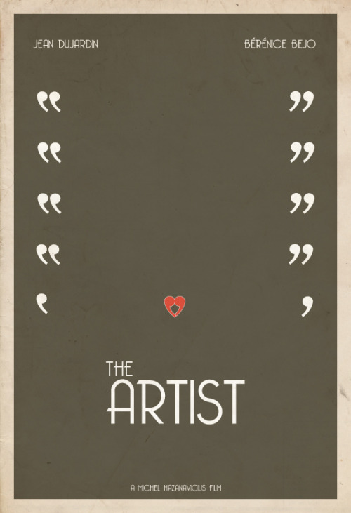 Well played.minimalmovieposters:  The Artist by Hunter Langston