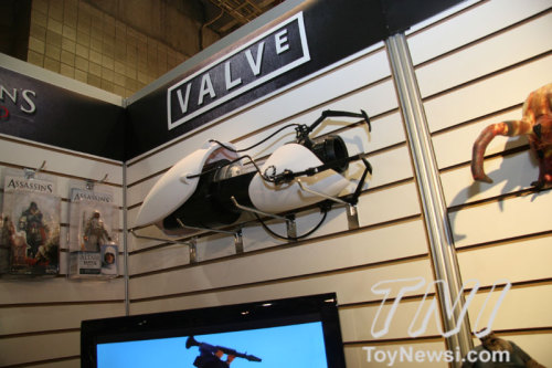 NECA's Toy Fair booth featuring the Portal Gun :)