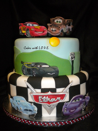 Cars cake for Ethan (by Cakes with L.O.V.E.)