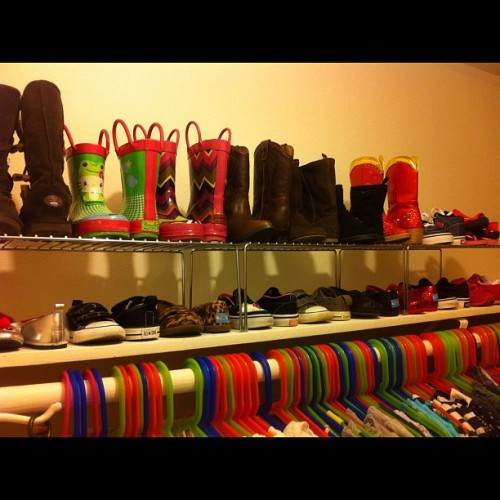 #febphotoaday inside your #closet. My closet is currently being worked on, so here's Layla's.  (Taken with instagram)