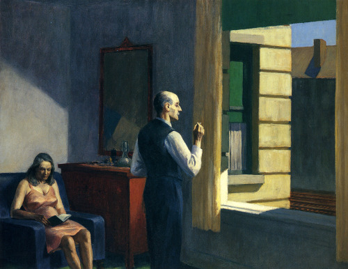 thusreluctant:  Hotel by a Railroad by Edward Hopper