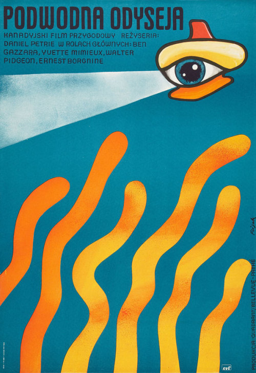 movieposteroftheday:  Polish one sheet for THE NEPTUNE FACTOR (Daniel Petri, USA, 1973) Artist: Jerzy Flisak (1930-2008) Poster source: Heritage Auctions