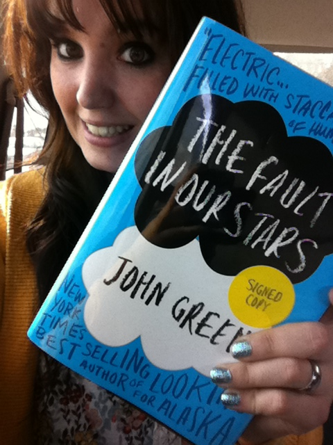This is me holding the last signed copy John Green's the fault in our stars I'm in
