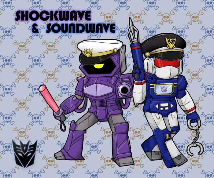 fyeahsoundwave:  Two Cops by ~Tyr44