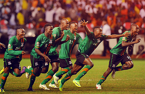 afootballreport:  Zambia win the African Cup of Nations, honor those lost 19 years ago in plane crash After taking off from Libreville in Gabon 19 years ago, a military plane carrying most of the squad crashed into the Atlantic Ocean. All 30 people on board, including 18 players, were killed. Before the crash, it was a golden era for Zambia's football team. Their squad was expected to qualify for the 1994 World Cup, but of course things took a turn for the tragic. 19 years later, there are celebrations all over Zambia. And for good reason. Zambia, for the first time ever, are the Champions of Africa. Accepting the role of underdogs going into the final against the Ivory Coast, a team filled with world class talent like Didier Drogba, Yaya Toure, and Gervinho, the Zambians, led by coach Herve Renard, played fearlessly. There were no goals in regulation, so penalty kicks decided who would would be crowned the best team in Africa. Against all odds, Zambia won 8-7 on penalties in what was one of the most dramatic shoot-outs in history. Throughout the shoot-out, the Zambian players and staff were singing, creating a surreal environment that transcended the events partaking on the pitch. The trophy doesn't make up for what was lost 19 years ago, but tonight a feeling of vindication will fill the air throughout Zambia.