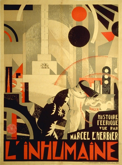 movieposteroftheday:  L'INHUMAINE (Marcel L'Herbier, France, 1924) Artist: unknown Poster source: JonathanRosenbaum.com