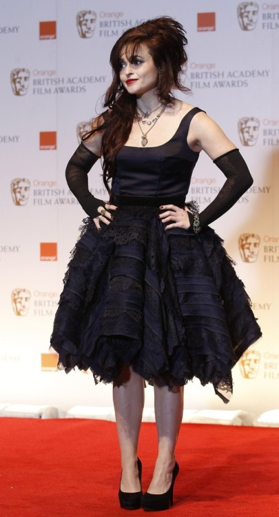 bohemea:  Helena Bonham Carter - 2012 BAFTA Awards, February 12th 2012 HBC is so perfect. She never disappoints me, I'm constantly amazed by her existence.
