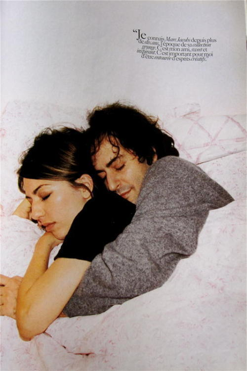 Sofia Coppola and Marc Jacobs snuggling!!  Love!