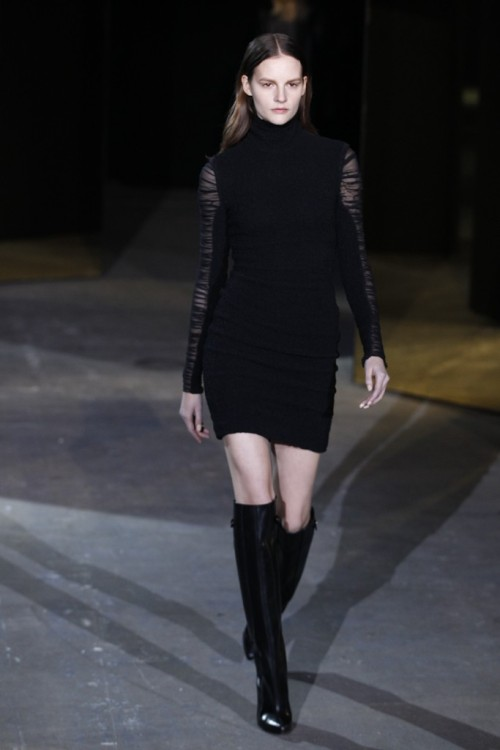 Alexander Wang Fall 2012 sticking to black & white this season.