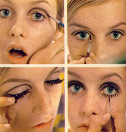 Twiggy; And how to do her make up!