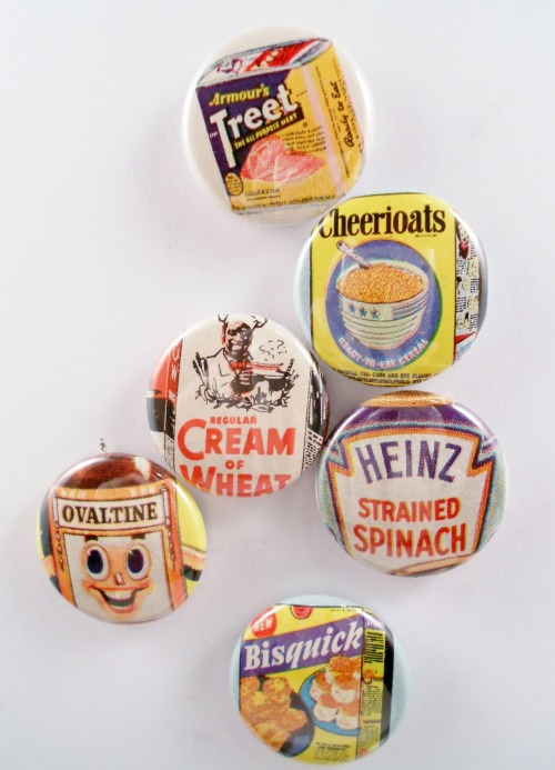 Magnets from old advertisements