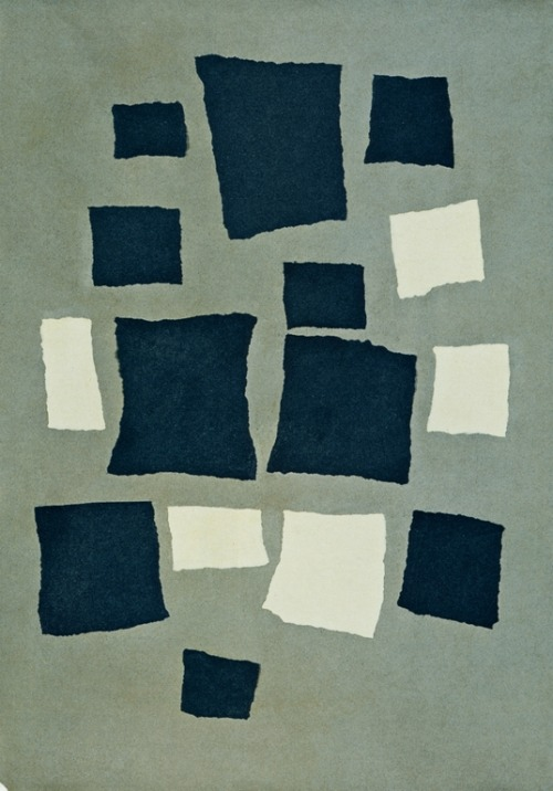 cavetocanvas:  Jean Arp, Collage Of Squares Arranged According To The Laws Of Chance, 1916-17
