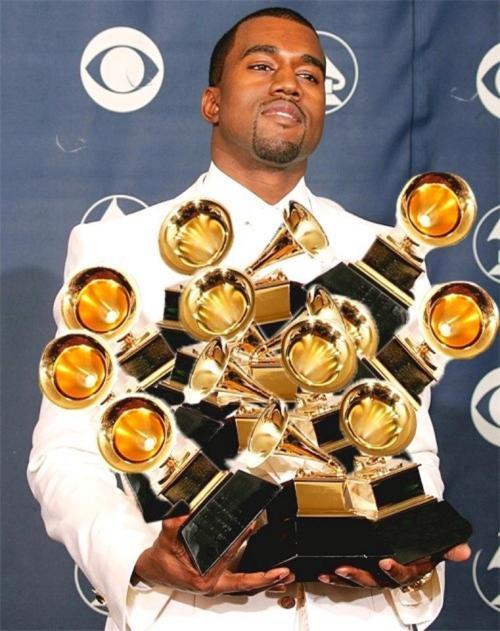itsdaydreaming:  Kanye won all of the Grammy's section of Rap. Best rap performance, Best rap/sung collab, Best rap song & Best rap album! his next pic like this gonna cover up his face.