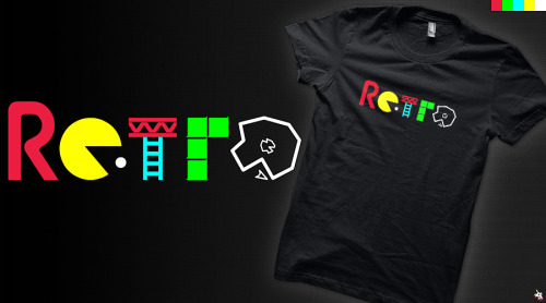 """Retro"" vote for it to get printed at Qwertee - click here."