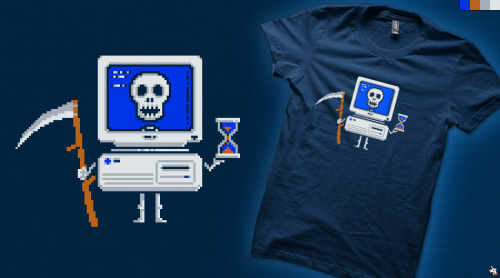 """Blue Screen of Death"" vote for it to get printed at Qwertee - click here."