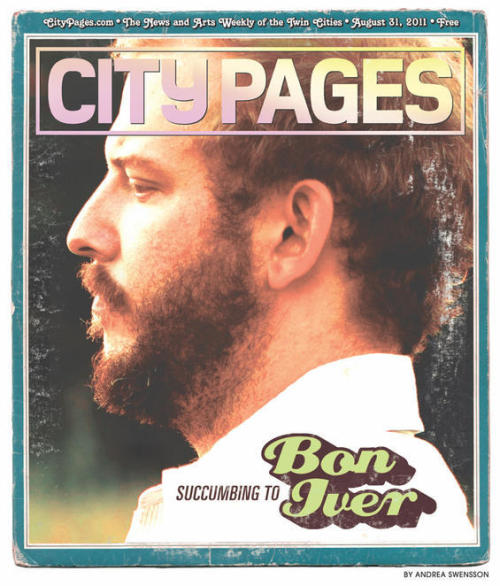 stuffaboutminneapolis:  I posted this City Pages cover shot back in September. Congrats to Justin Vernon and Bon Iver for winning the Best New Artist Grammy! Midwest is best don't cha know.