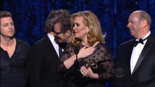 ADELE!! Give yourself a pat on the shoulder for those 6 awards! Congrats, you deserved it.