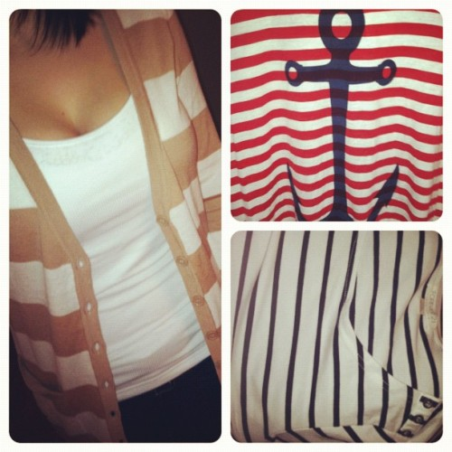 Shopping was a success, I love stripes. Haha (Taken with instagram)