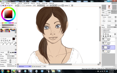 Working on a picture for a friend. It is her Larp character Maylin.