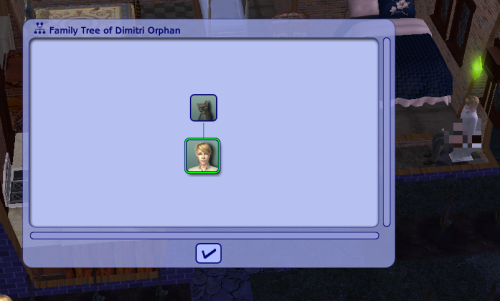 simsgonewrong:  The one time that I check my sim's family tree and I find out that his mother is a cat name Marie.