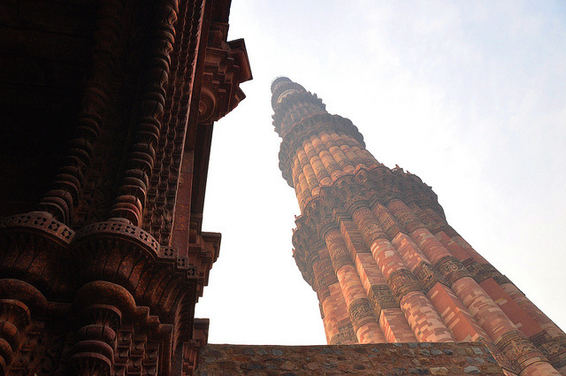 Qutub Tower , Delhi (14th Century AD) by kholkute on Flickr.