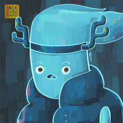 "Here's Clarence from the Adventure Time episode ""Ghost Princess"". Only two paintings left in the series!"