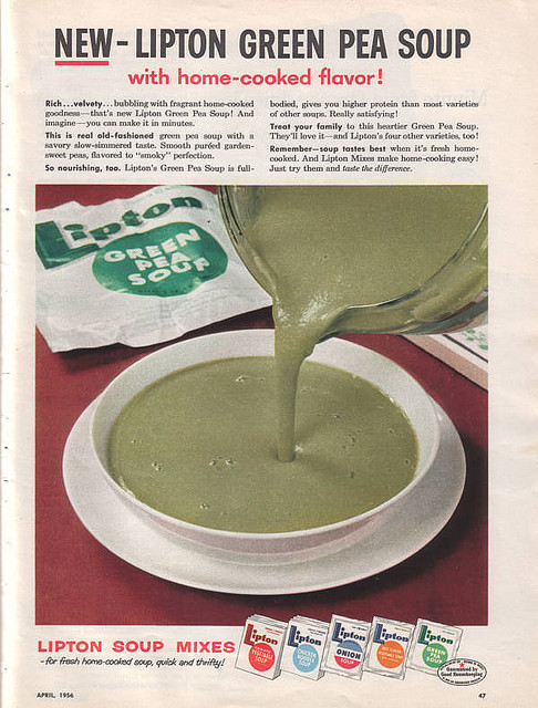 Great! I was getting so sick of that old lipton green pea soup. It had NO home-cooked flavor. None.