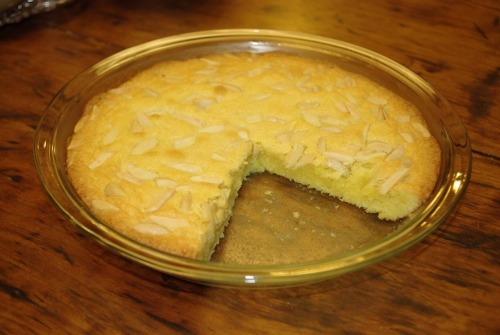 Swedish almond cake. This deliciousness is the result of needing an excuse to use my KitchenAid tonight (even though the recipe regards the use of a mixer as unnecessary) and to satiate my desire for this amazing, in all actuality, giant almond cookie. If you're looking to fulfill your almond cravings, follow this link for the recipe. Smaklig måltid!