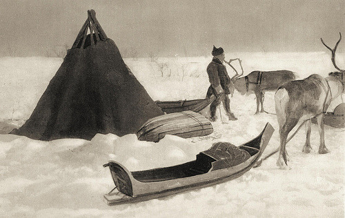 ealdleoht:  Sami camp Finnmark Norway 1890 - 1920 (by saamiblog)