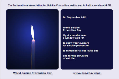 Today Is World Suicide Prevention Day Please show your support.