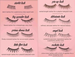 False lashes; loves them!