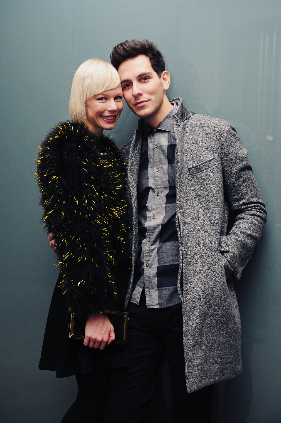 Erin Fetherston & Gabe Saporta backstage @ the Simon Spurr show in Milk Studios