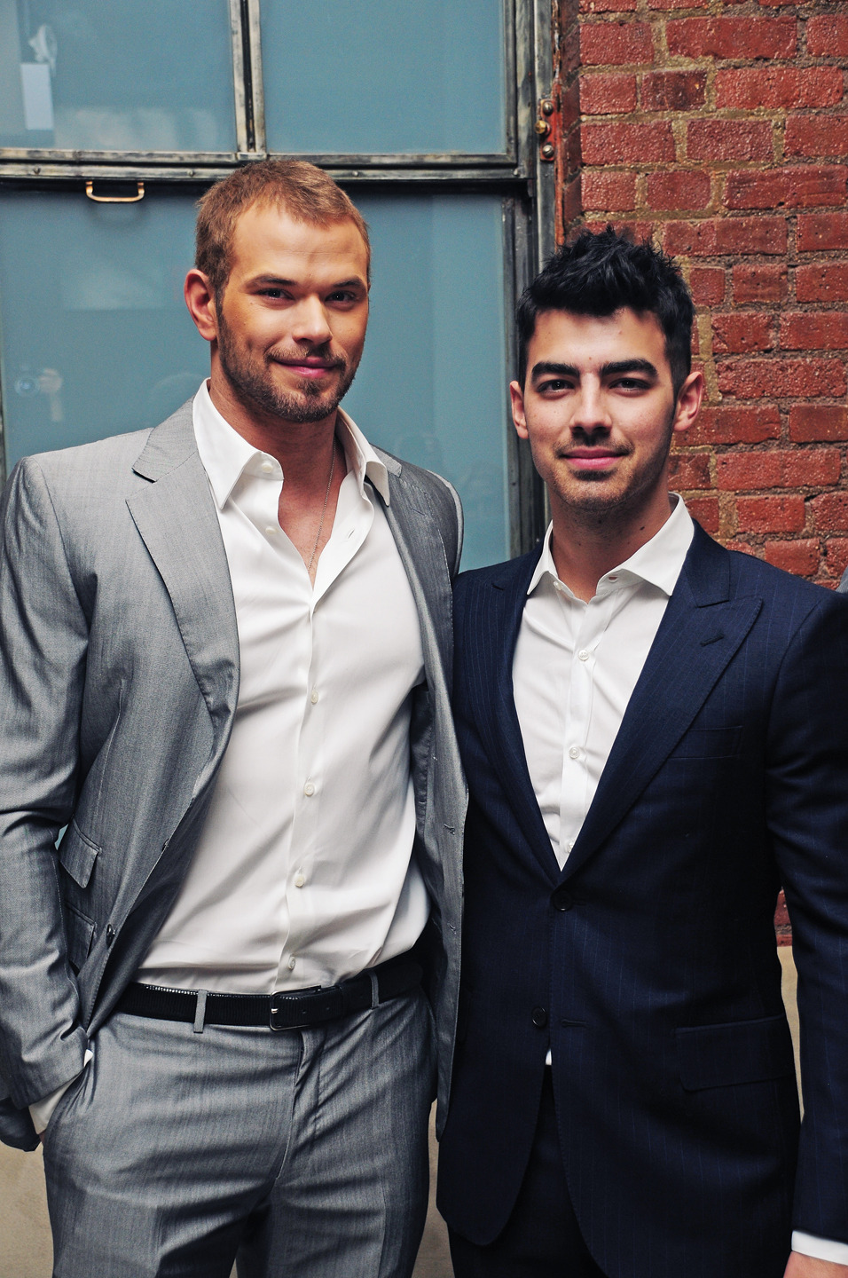 Kellan Lutz & Joe Jonas backstage @ the Simon Spurr show in Milk Studios