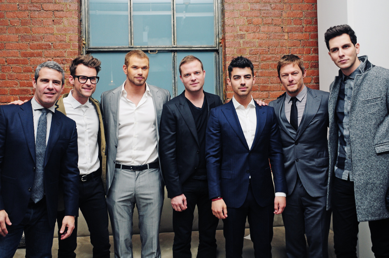 Andy Cohen, Brad Goreski, Kellan Lutz, Simon Spurr, Joe Jonas, Norman Reedus, & Gabe Saporta @ the Simon Spurr show in Milk Studios