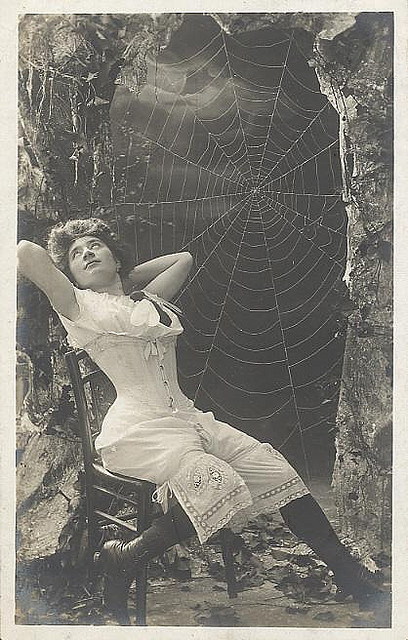 niterainbows:  Spiderwebs and corset
