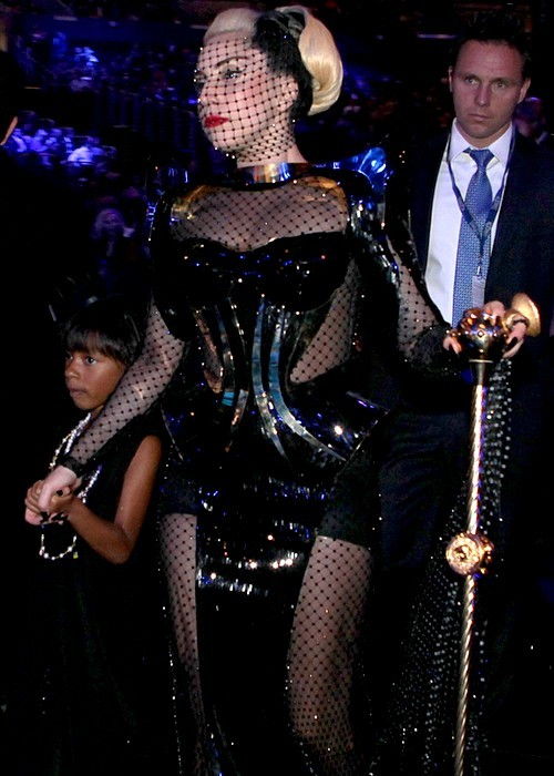 fashionshooker:  GAGA Leaving Grammys with her slave
