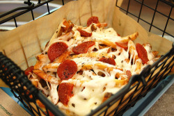 Pizza fries.