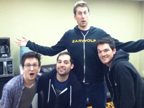 earwolf:   Comedy Bang Bang 144: Harris Wittels, Paul Rust, Michael Cassady, Don't Stop Or We'll Die    Don't stop listening to this podcast or you know what will happen! Paul Rust, Harris Wittels, and Michael Cassady from our favorite comedy-pop crossover act Don't Stop or We'll Die are in the studio to jam out some tunes before their matrimonial debut. And since we have these talented comedians here, why not have them play some What Am I Thinking? and Would You Rather? Don't be surprised if some Hollywood legends and insiders show up while the band takes their bathroom breaks. After all, these are the Rocky Vs. Rambo screenwriters we're talking about!    BEST EPISODE EVER!