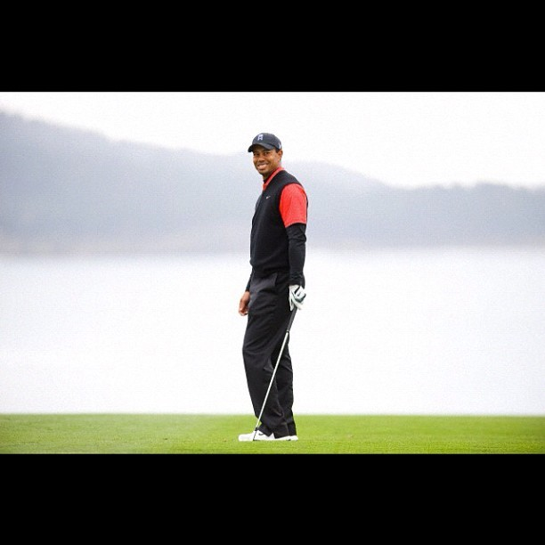 #tigerwoods at #2012 #pebblebeach ProAm #golf #sports  (Taken with instagram)