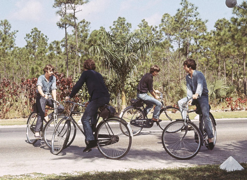 "Another of The Biking Beatles on the set of ""Help""."