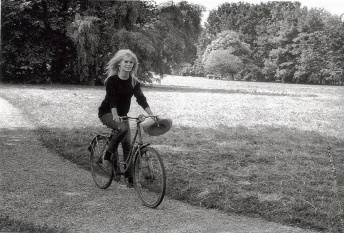 Brigette Bardot on a bike.
