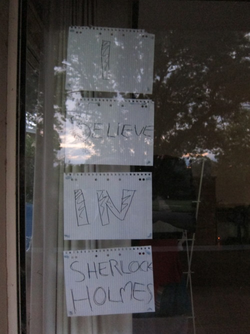 frumiouscumberbatch:  My front window.  Hope the parents don't complain too much.