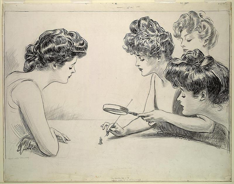 The Weaker Sex (1903) by Charles Dana Gibson
